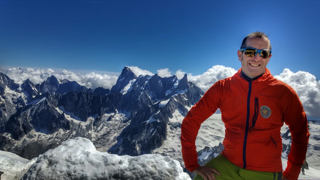 International Mountain Leader looking out over the Alps